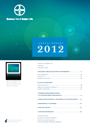 Bayer annual report 2012