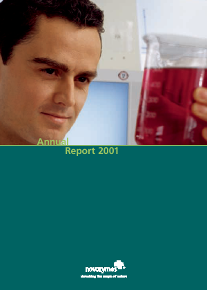 Novozymes annual report 2001