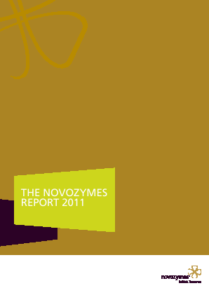 Novozymes annual report 2011