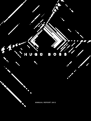 Hugo Boss annual report 2012