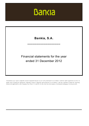 Bankia annual report 2012