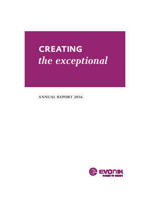 Evonik Industries annual report 2016