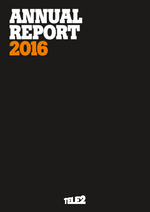 Tele2 annual report 2016