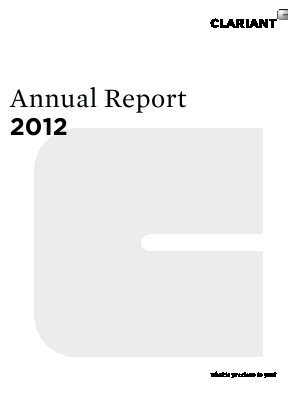 Clariant annual report 2012