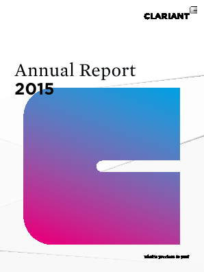 Clariant annual report 2015