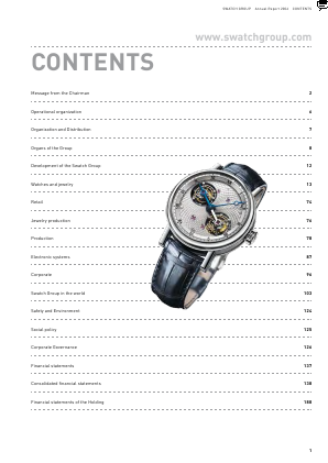 Swatch Group annual report 2006