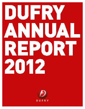 Dufry annual report 2012