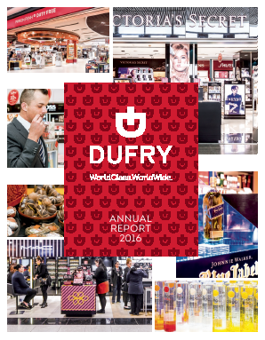 Dufry annual report 2016