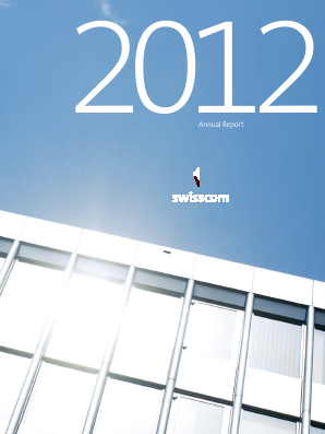 Swisscom annual report 2012