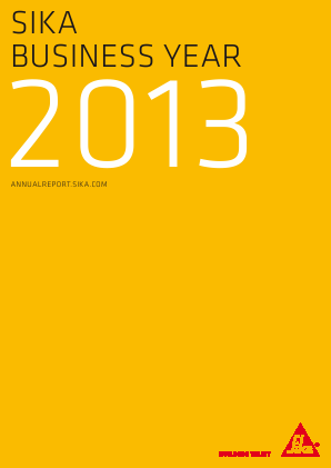 Sika annual report 2013