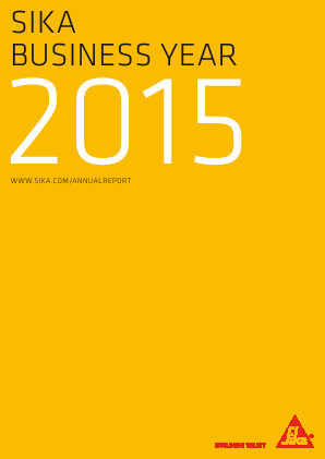 Sika annual report 2015