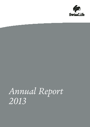 Swiss Life annual report 2013