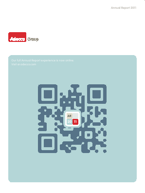 Adecco annual report 2011