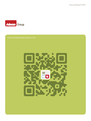 Adecco annual report 2012
