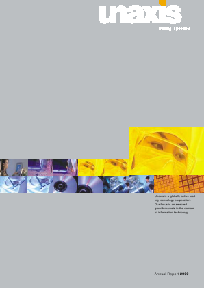 OC Oerlikon annual report 2001