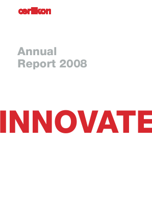 OC Oerlikon annual report 2008