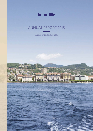 Julius Baer Gruppe annual report 2015