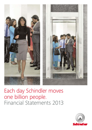 Schindler annual report 2013