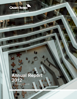 Credit Suisse Group annual report 2012