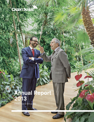 Credit Suisse Group annual report 2013