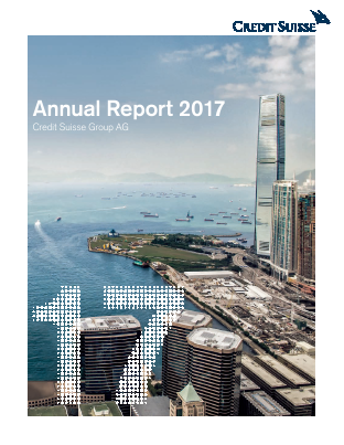 Credit Suisse Group annual report 2017