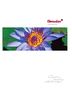 Givaudan annual report 2004
