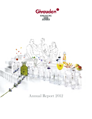 Givaudan annual report 2012