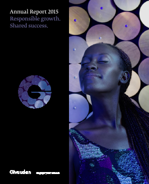 Givaudan annual report 2015