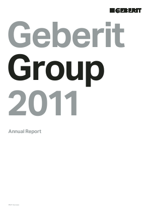 Geberit annual report 2011