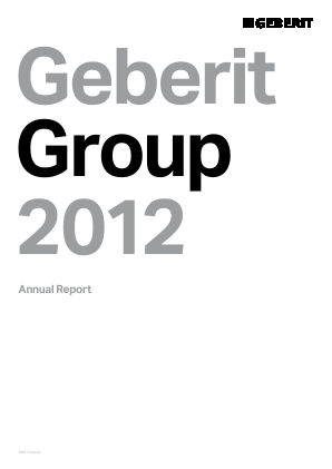 Geberit annual report 2012