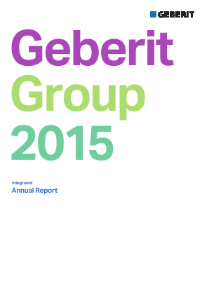 Geberit annual report 2015