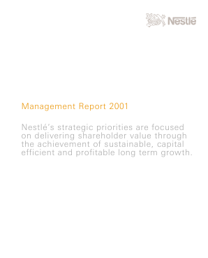 Nestle annual report 2001