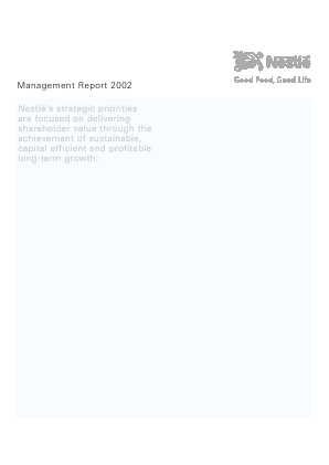 Nestl� annual report 2002