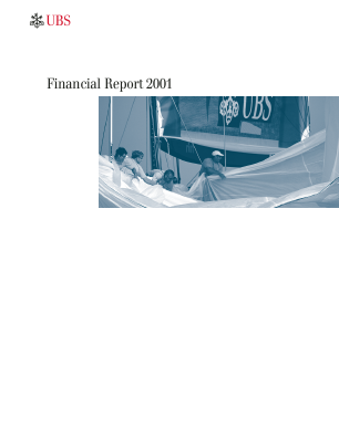 UBS Group annual report 2001
