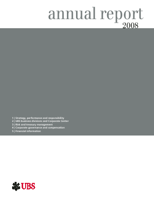 UBS Group annual report 2008