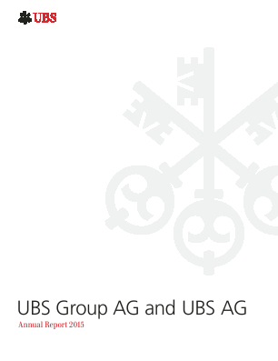 UBS Group annual report 2015