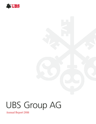 UBS Group annual report 2016