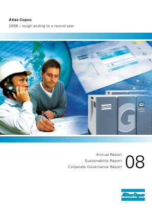 Atlas Copco annual report 2008