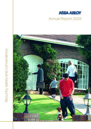 Assa Abloy annual report 2003