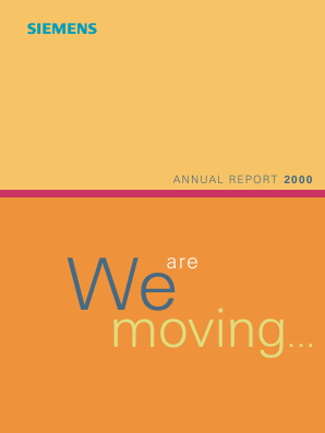 Siemens annual report 2000