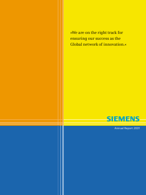 Siemens annual report 2001