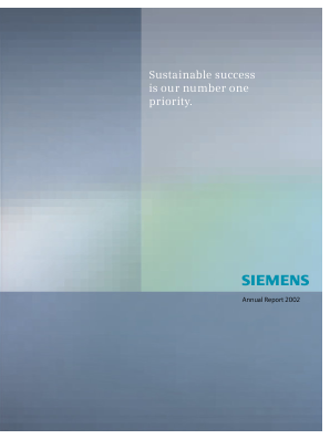 Siemens annual report 2002