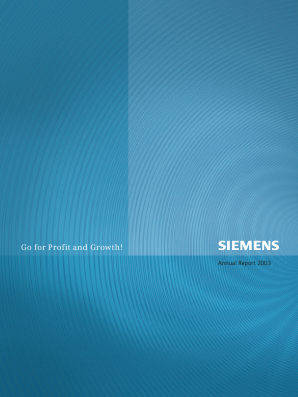 Siemens annual report 2003