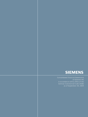 Siemens annual report 2004