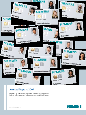 Siemens annual report 2007
