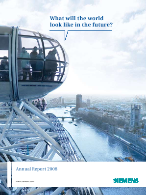 Siemens annual report 2008