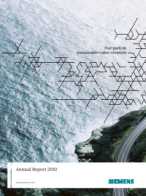 Siemens annual report 2010