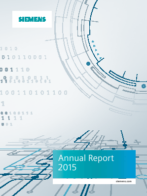Siemens annual report 2015