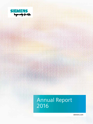 Siemens annual report 2016