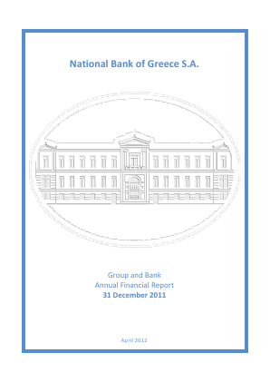 National Bank of Greece annual report 2011